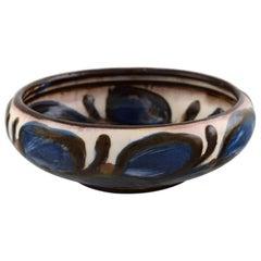 Kähler, Denmark, Glazed Stoneware Bowl in Modern Design, 1930s-1940s
