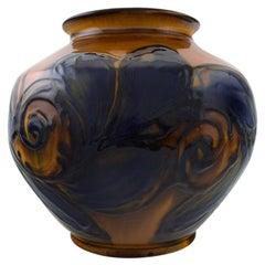 Kähler, Denmark, Glazed Stoneware Vase, 1930s-1940s