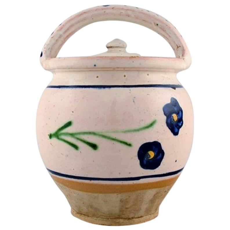 Kähler, Denmark, Lidded Maternity Jar in Glazed Stoneware, 1930s
