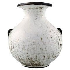 Kähler, Denmark, Stoneware Vase, 1930s, Designed by Svend Hammershøi
