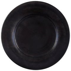 Kähler, Denmark, Svend Hammershøi, Large Glazed Stoneware Dish, 1930s