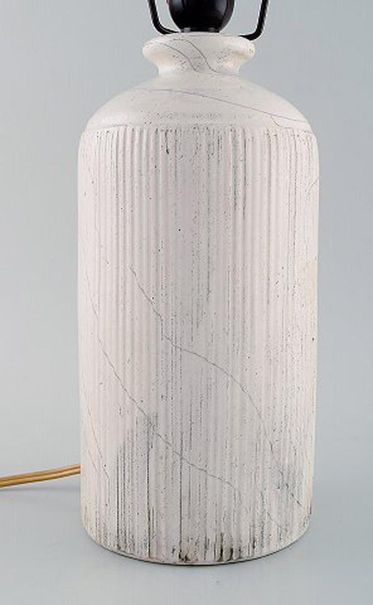 Art Deco Kähler, Denmark, Table Lamp in Glazed Stoneware, 1930s by Svend Hammershoi For Sale