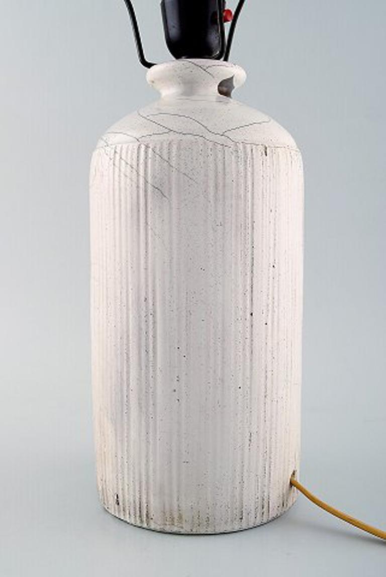 Danish Kähler, Denmark, Table Lamp in Glazed Stoneware, 1930s by Svend Hammershoi For Sale