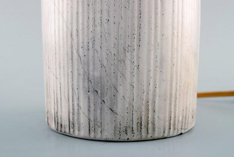 Mid-20th Century Kähler, Denmark, Table Lamp in Glazed Stoneware, 1930s by Svend Hammershoi For Sale