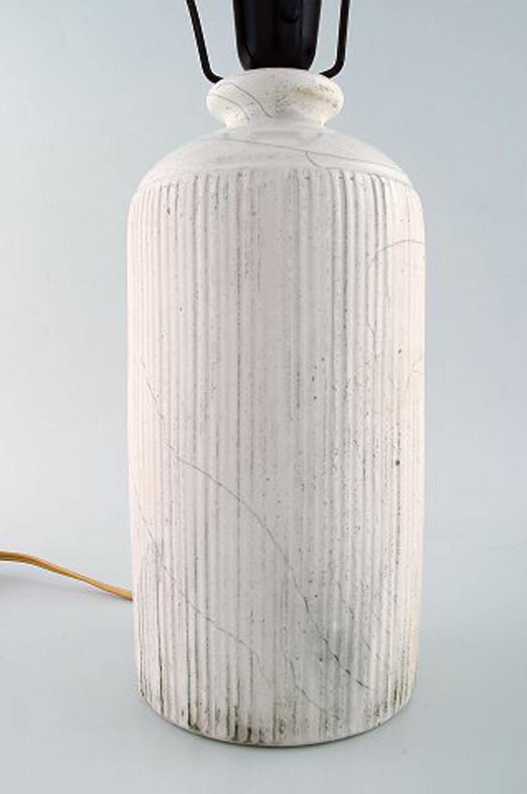 Kähler, Denmark, Table Lamp in Glazed Stoneware, 1930s by Svend Hammershoi For Sale 1