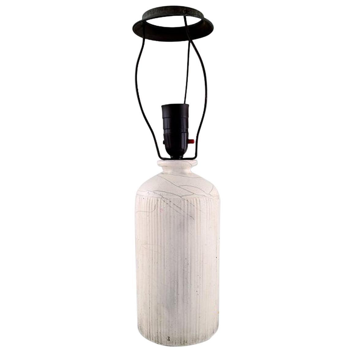 Kähler, Denmark, Table Lamp in Glazed Stoneware, 1930s by Svend Hammershoi