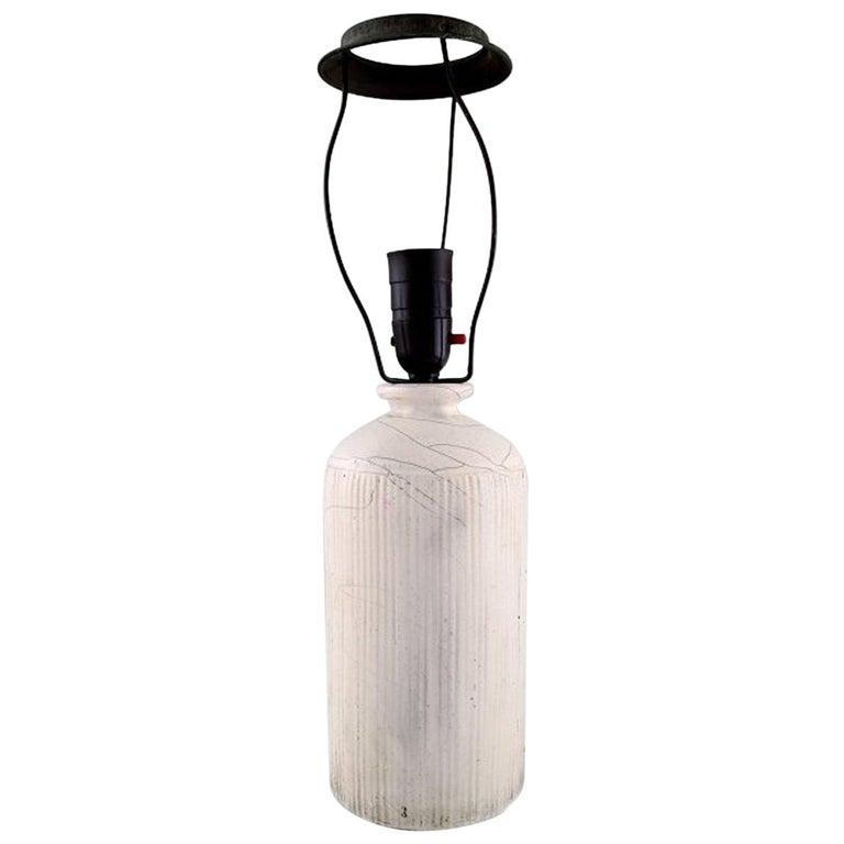 Kähler, Denmark, Table Lamp in Glazed Stoneware, 1930s by Svend Hammershoi For Sale
