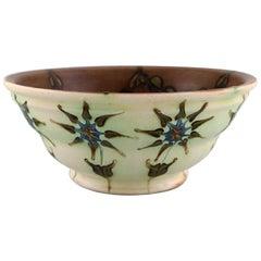 Kähler, HAK, Glazed Stoneware Bowl in Modern Design, 1930s-1940s