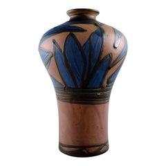 Kähler, HAK, Glazed Stoneware Vase in Modern Design, 1930s-1940s