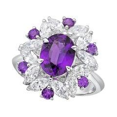 Kahn GIA Certified 2.17 Carat Pink- Purple Unheat Sapphire Ring
