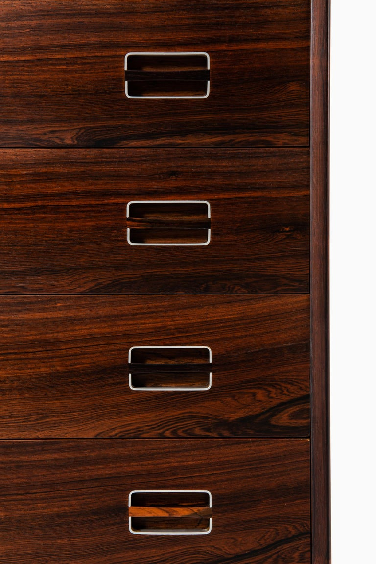 Scandinavian Modern Kai Kristiansen Attributed Bureau in Rosewood and Aluminium Produced in Denmark  For Sale