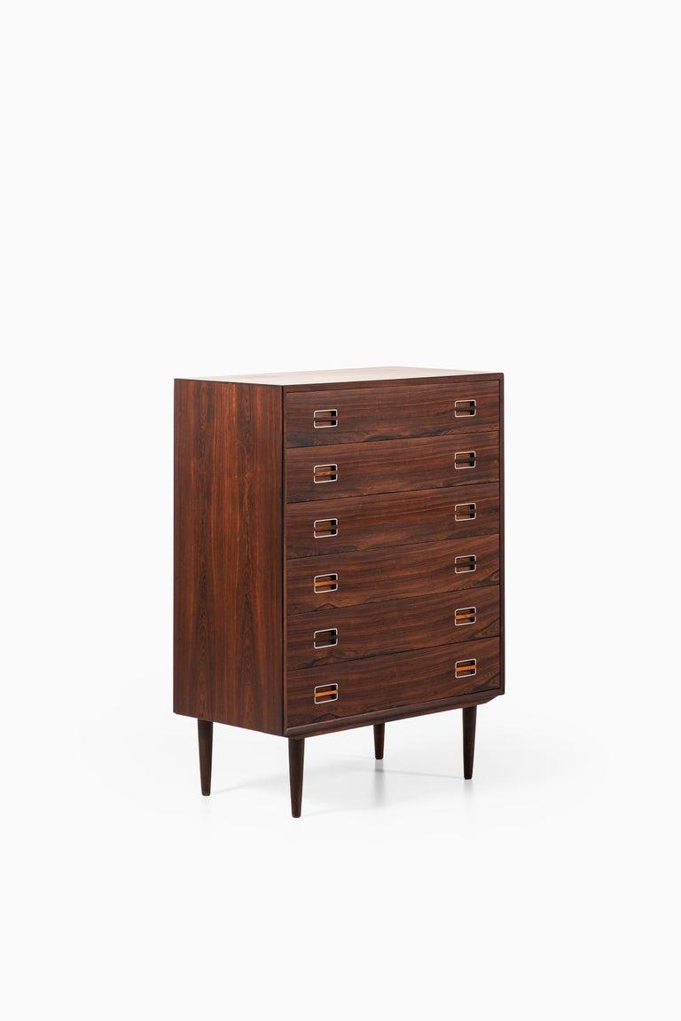 Mid-20th Century Kai Kristiansen Attributed Bureau in Rosewood and Aluminium Produced in Denmark  For Sale