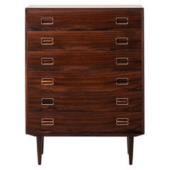 Kai Kristiansen Attributed Bureau in Rosewood and Aluminium Produced in Denmark