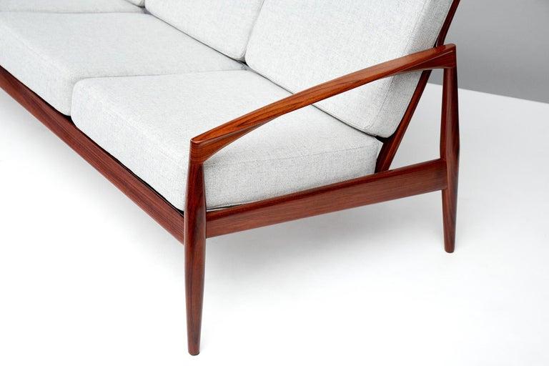 Scandinavian Modern Kai Kristiansen Danish Modern Rosewood Paper Knife Sofa, 1955 For Sale