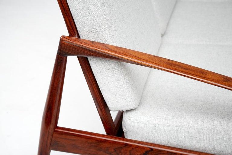 Mid-20th Century Kai Kristiansen Danish Modern Rosewood Paper Knife Sofa, 1955 For Sale