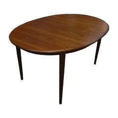 Kai Kristiansen designed Teak Extending Oval Dining Table for Skovmand Andersen