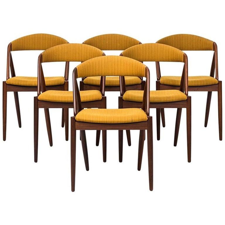Kai Kristiansen Dining Chairs by Schou Andersen in Denmark For Sale