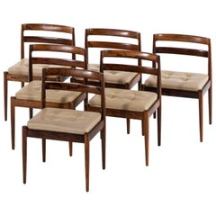Kai Kristiansen dining chairs model 301 / Universe by Magnus Olesen in Denmark