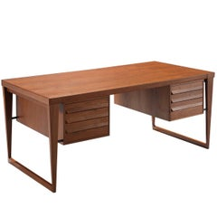 Kai Kristiansen Elegant Executive Desk in Teak
