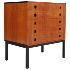 Kai Kristiansen for Aksel Kjersgaard, Attributed, Dressers in Teak and Ivory