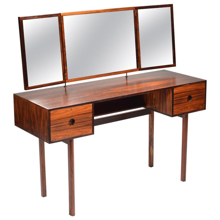 Kai Kristiansen for Aksel Kjersgaard Rosewood Vanity with Folding Mirror
