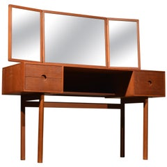 Kai Kristiansen for Aksel Kjersgaard Teak Vanity with Folding Mirror