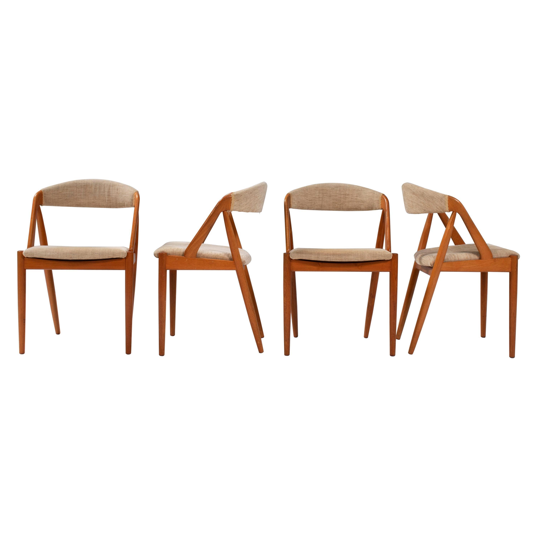 1960's Kai Kristiansen for Schou Andersen Model 31 Dining Chairs, Set of 4