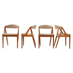 1960's Kai Kristiansen for Schou Andersen Model 31 Dining Chairs, Set of 4