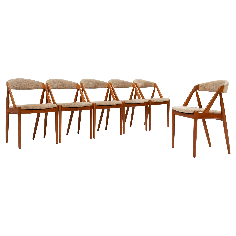 1960's Kai Kristiansen for Schou Andersen Model 31 Dining Chairs, Set of 6