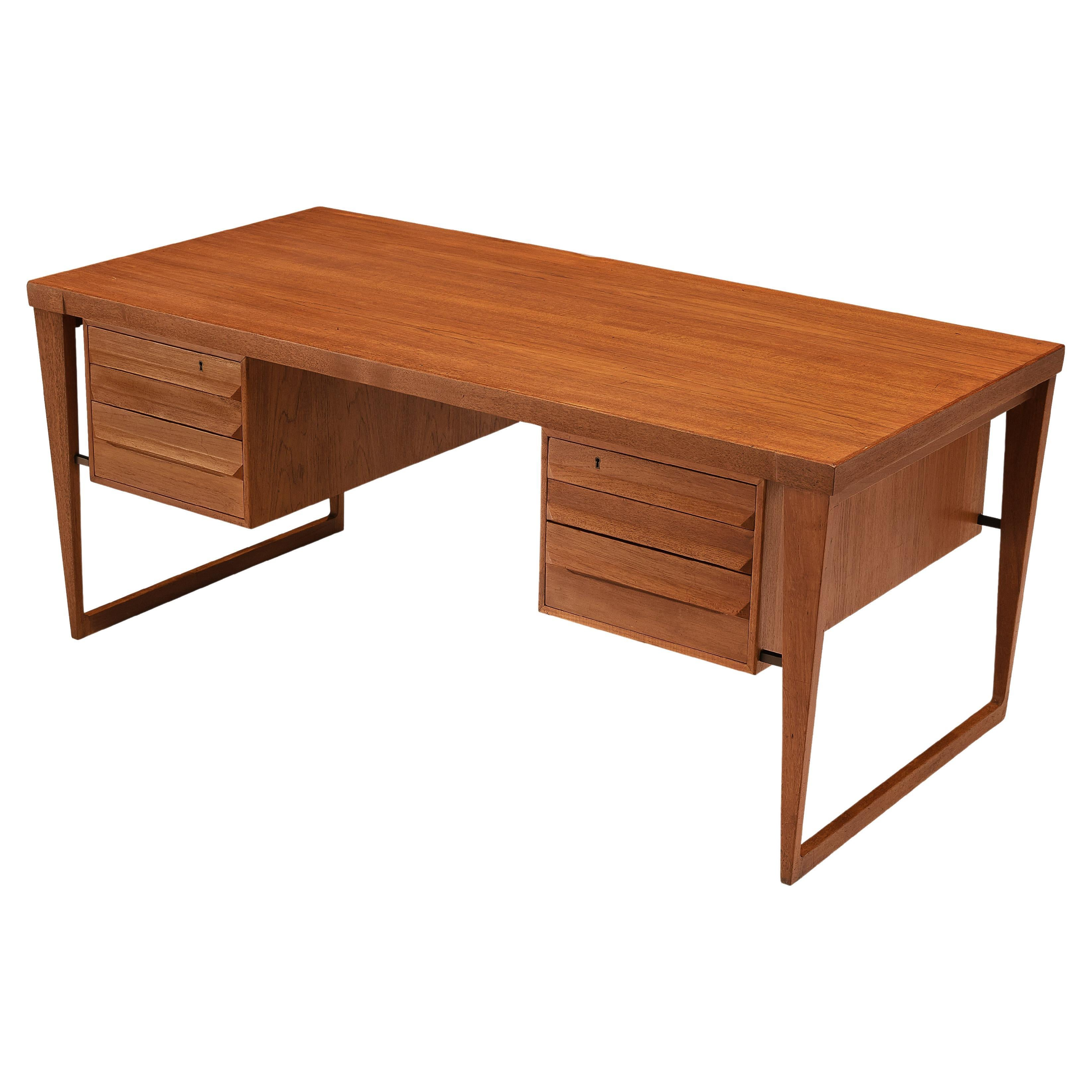 Kai Kristiansen Free-Standing Desk Model '70' in Teak