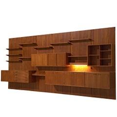 Kai Kristiansen Large Wall Unit in Teak, circa 1955