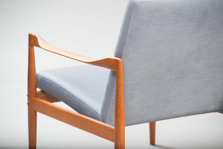 Kai Kristiansen Midcentury Teak Lounge Chairs for Fritz Hansen, Set of Two In Excellent Condition For Sale In Porto, PT