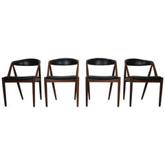 Kai Kristiansen Model 31 Set of 4 Teak 'a' Frame Chairs for Schou Andersen, 1960