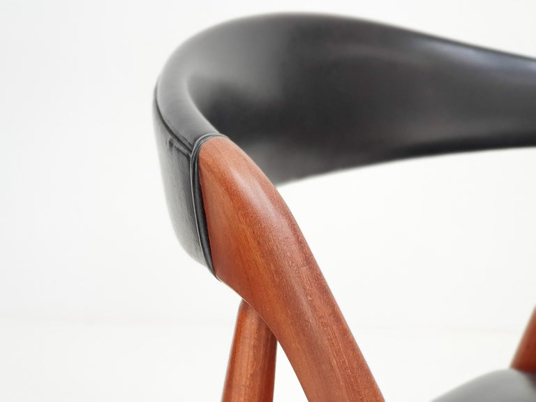 Kai Kristiansen Model 31 Teak 'a' Frame Chairs for Schou Andersen, 1960s For Sale 3