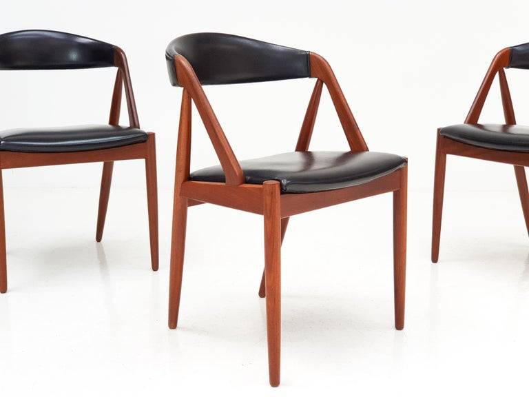 Kai Kristiansen Model 31 Teak 'a' Frame Chairs for Schou Andersen, 1960s For Sale 4