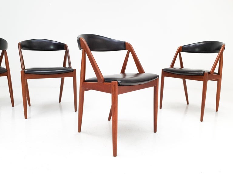 Kai Kristiansen Model 31 Teak 'a' Frame Chairs for Schou Andersen, 1960s For Sale 5