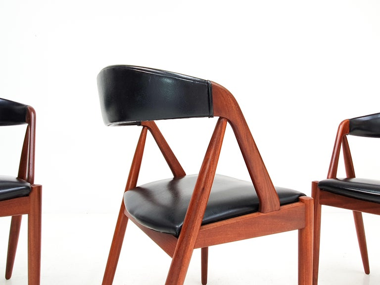 20th Century Kai Kristiansen Model 31 Teak 'a' Frame Chairs for Schou Andersen, 1960s For Sale