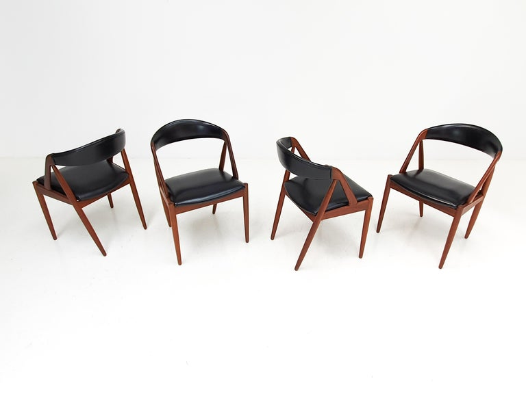 Kai Kristiansen Model 31 Teak 'a' Frame Chairs for Schou Andersen, 1960s For Sale 2