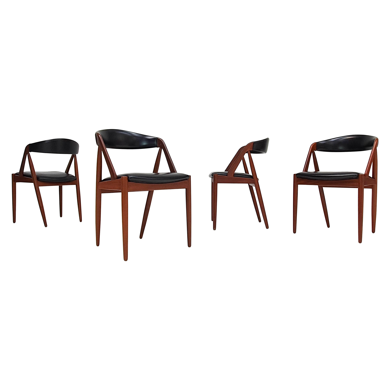 Kai Kristiansen Model 31 Teak 'a' Frame Chairs for Schou Andersen, 1960s