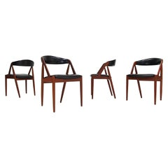 Kai Kristiansen Model 31 Teak 'a' Frame Chairs for Schou Andersen, 1960s