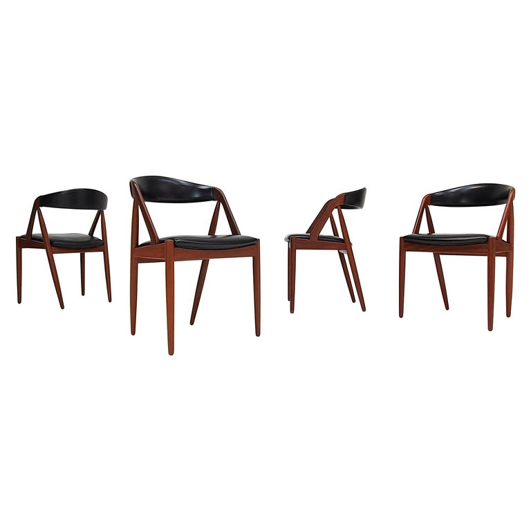 Kai Kristiansen Model 31 Teak 'a' Frame Chairs for Schou Andersen, 1960s For Sale
