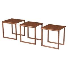 Kai Kristiansen Model-33 Walnut Interlocking Cube Nesting Tables