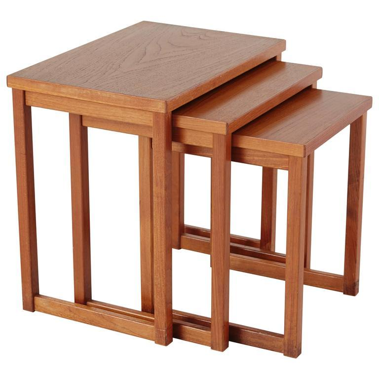 Danish Kai Kristiansen Nesting Tables For Sale