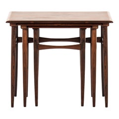 Nesting Tables in Rosewood by Skovmand & Andersen in Denmark