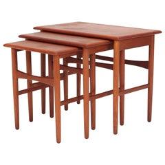 Kai Kristiansen Nesting Tables MH Møbler, 1960s