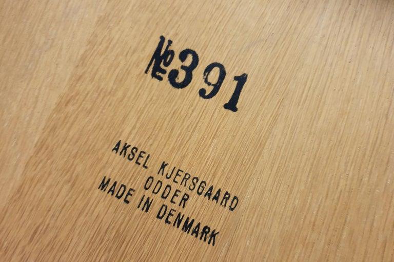 Kai Kristiansen Oak and Velvet Bench, circa 1960 For Sale 1