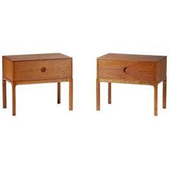 Kai Kristiansen Oak Bedside Cabinets, 1960s