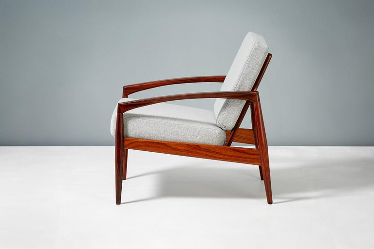 Scandinavian Modern Kai Kristiansen Pair of Rosewood Paper Knife Lounge Chairs, 1950s For Sale