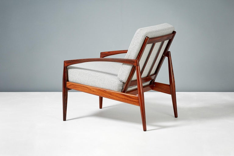 Danish Kai Kristiansen Pair of Rosewood Paper Knife Lounge Chairs, 1950s For Sale