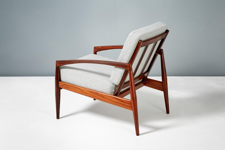 Kai Kristiansen Pair of Rosewood Paper Knife Lounge Chairs, 1950s In Excellent Condition For Sale In London, GB